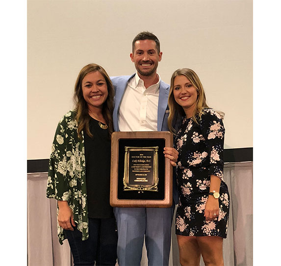 Dr. Cody Elledge get doctor of the year award